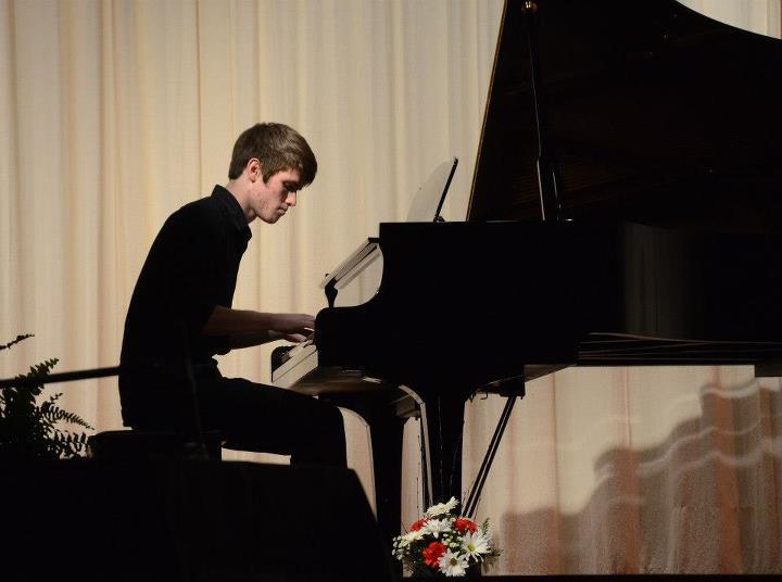 Chase at the piano