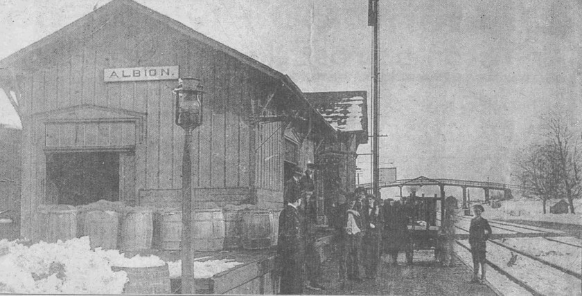 The Albion Depot served the B&O Railroad.