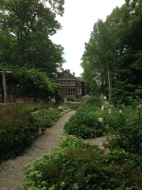 Gene Stratton Porter's home, Limberlost, on the shores of Sylvan Lake near Rome City, Indiana.