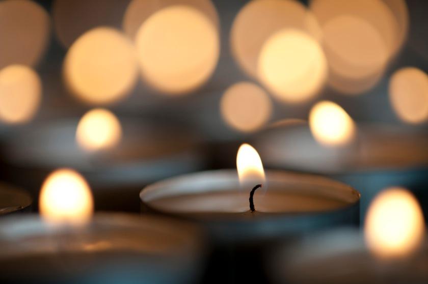 Christmas candle bokeh