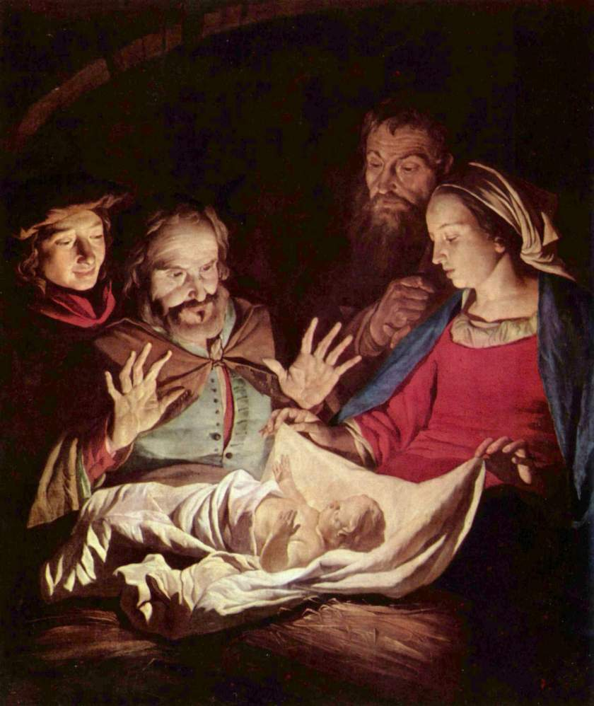 """The Adoration of the Shepherds"" - Gerard van Honthorst, 1625"